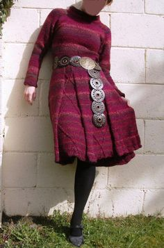 Items similar to Red Wine Dress - handknitted of wool mix with cables, inspired by Irish folklor, marsala strawberry ice purple on Etsy Wine Dress, Etsy Christmas, Knitting Yarn, Dress Collection, Red Wine, Knit Crochet, High Waisted Skirt, Berries, Wool