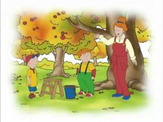 Caillou Videos Channel - Caillou Goes Apple Picking  #youtube #pinterest #kid #kids #video's #video #mad4clips #apples