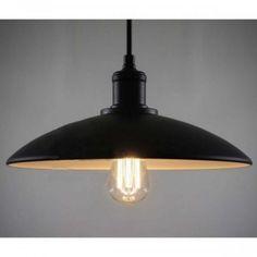 Felfüggeszthető ipari lámpa antik stílusú burával