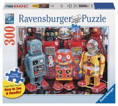 Tin Robots | 2D Puzzles | NEW | Shop | US | ravensburger.com