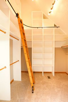 Master Bedroom Closet - The ladder is a must!