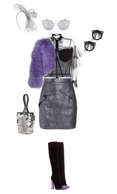 """""""perfect for a party"""" by vnae18 on Polyvore featuring Philosophy di Lorenzo Serafini, D&G, Roland Mouret, Maison Michel, Tom Ford, Valentino, Alexander Wang and Fallon"""