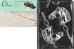 Cybrtrayd 45St50A087 Horse Head Lolly Animal Chocolate Candy Mold with 50 45Inch Lollipop Sticks -- Want additional info? Click on the image.
