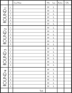 Bunco Score Card - this is a pretty good printable score card... we could customize it some.  Most people recommend playing a couple rounds... breaking at half-time to get refreshments and then finishing the remaining two rounds. bunco group, score card, bunco party, bunco printables, bunco night, scorecard, bunco rules, game, bunko parti