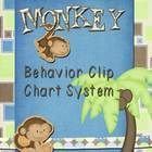 """Monkey theme behavior clip chart system that allows the positive activities in the classroom to be rewarded.  All students start the day on """"Ready ..."""