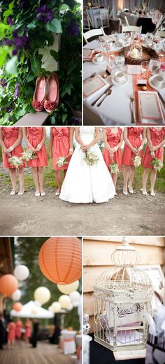 British Columbia Wedding with Coral touches by Jamie Delaine, featured on Style Me Pretty.