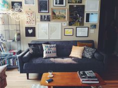 living room love - gallery wall, couch, coffee table