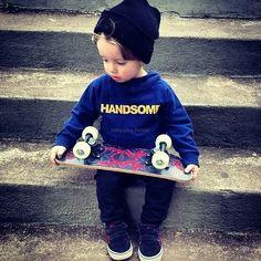 Skateboarder in training..
