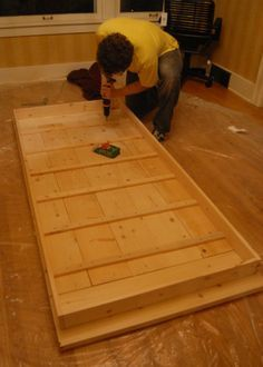 DIY Farmhouse table - this with pre-made legs seems easiest and most moveable @Courtney Baker Baker McKelvie