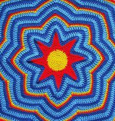 Starburst Blanket By Leonie Morgan - Purchased Crochet Pattern - (ravelry)