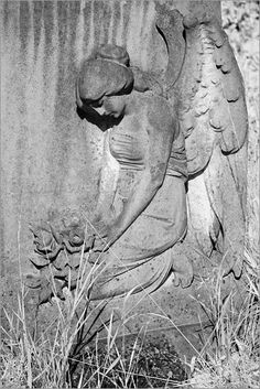 """""""Death leaves a heartache no one can heal, love leaves a memory no one can steal.""""  ~From a headstone in Ireland. (this particular angel is found in England.)"""