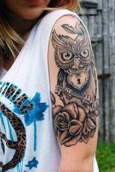 Tatuagens de Coruja Masculinas e Femininas: Significados