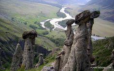 Каменные грибы - урочище Аккурум (Ак-Корум) - Горный Алтай