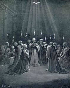 The Descent Of The Spirit - Gustave Dore