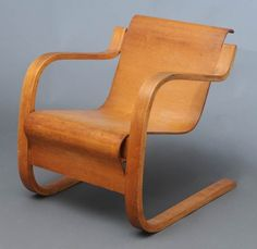 ALVAR AALTO model 31 laminated armchair  circa 1935,  $7500