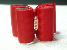 noeud pour chien double coque rouge strass swarovski : Animaux par bowsnoeuds