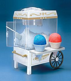 The Old Fashioned Snow Cone Maker from Nostalgia Electrics