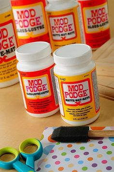 the guide to mod podge. this describes the different formulations and how to use them. - Click image to find more DIY & Crafts Pinterest pins