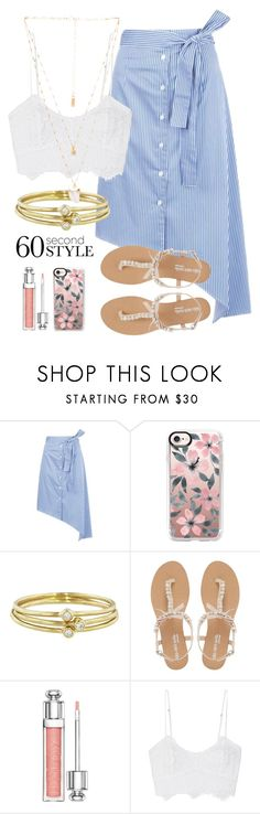 """dandelion"" by kansas-hunton ❤ liked on Polyvore featuring Tome, Casetify, Jennifer Meyer Jewelry, Head Over Heels by Dune, Christian Dior, Miguelina, Natalie B, asymmetricskirts and 60secondstyle"