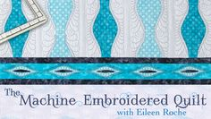 Learn to quilt elegant embellishments with author and embroiderer Eileen Roche! You're quilts will quickly take on texture with her techniques & tips. - via @Craftsy