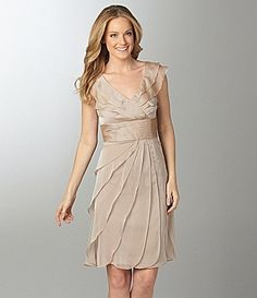 Adrianna Papell Adrianna Papell Woman Tiered Chiffon Dress on sale at Dillards - Online