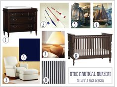 simple sage designs: Nautical Nursery Design