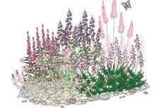 Spir i solen - Planter - Staudebed - Inspirasjon Haku, Outside Plants, Garden Design, Seeds, Google, Planters, Tapestry, Landscape, Flowers