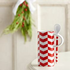 Chevron Pattern Mug with Spoon, 8 fl oz. $7.95 at StarbucksStore.com