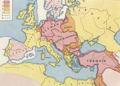 Mapa antes de la primera guerra mundial