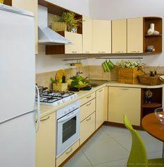 Modern Yellow Kitchen Cabinets #TT20 (Kitchen Design Ideas.org)