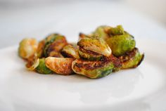 crispy roasted brussels sprouts with honey-sriracha  These were SO good! Jason loved them.