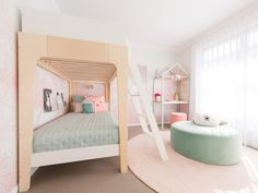 28 Kids Bedroom Interior Design Trends for 2019 nice With regards to the children, obviously you as a parent need to give it all the best. For instance, by improving the children room inside with the pre. Bunk Beds For Girls Room, Kids Bunk Beds, Big Girl Rooms, Kids Bedroom, Kids Rooms, Twin Room, Bedroom Ideas, Modern Bunk Beds, Cool Bunk Beds