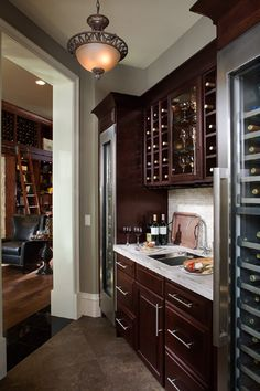 Wine Rack - Kitchen Cabinets