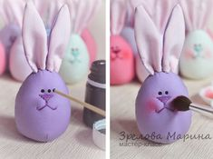 Funny Easter Bunny Eggs – a free tutorial on the topic: Toys ✓DIY ✓Steps-By-Step ✓With photos Funny Easter Bunny, Easter Bunny Eggs, Diy For Kids, Crafts For Kids, Easter Drawings, Craft Projects, Sewing Projects, Diy Purse, Easter Holidays