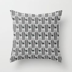 Graphic Eyes Throw Pillow by Bouffants and Broken Hearts - $20.00