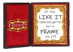 Frame it – like you mean it! With About Frames! Light, humidity, all those Gold Coast elements—can be artwork's enemy.