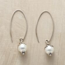 These sterling and shell pearl earrings are the very essence of elegance.