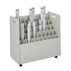 Architectural Drawing Storage vis-i-rack for large rolled documents such as blueprints, plans