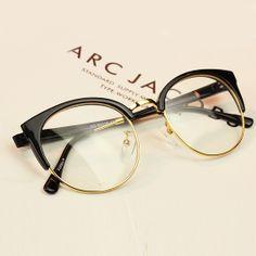 2016 New Fashion Women Glasses Eyeglasses Frames Myopia Glasees Frame For Men Vintage Women's Big Glasses Oculos Gafas Cool Glasses Frames, Fake Glasses, New Glasses, Classic Glasses, Glasses Trends, Lunette Style, Fashion Eye Glasses, Cat Eye Frames, Womens Glasses