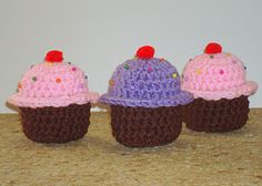 crochet Cupcakes pattern from Dly's Hooks and Yarns.