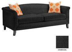 Albright Apt. Size Sofa, Charcoal transitional-love-seats