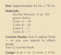 🌸 👱🏼 🌸 Quadro Crochê Navajo Afegã Clássica -  / 🌸 👱🏼 🌸 Vintage Crochet Navajo Afghan Box -