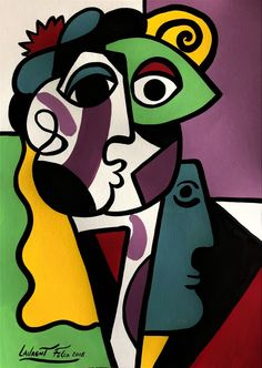 Art Deco Paintings, Colorful Paintings, Pablo Picasso Drawings, Art Drawings, Line Art, Pop Art, Art Fantaisiste, Beautiful Flower Drawings, Abstract Face Art