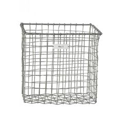 Industrial wire mail basket.This vintage style iron coated zinc mailbox with typewriter font labelled 'Mail'. Use wall mounted for your paper work by your desk or why not let each family member have one to get everyone organised in the hall?  Alternatively, you could hook it to your door to catch the mail or keep it as a mail tidy before you file away! Zinc coated ironHeightL 24cm, Width 24 cm, Length 14 cm