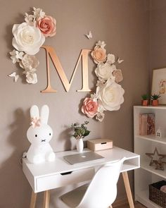 Paper Flowers Wall Decor - Nursery Paper Flowers Decor - Large Paper Flowers - Paper Flowers for Girl Nursery - Paper Flowers Decor - Papier Blumen Wand Dekor Kinderzimmer Papierblumen große image 2 You are in the right place about - Tv Wall Decor, Nursery Wall Decor, Girl Nursery, Girl Room, Girls Bedroom, Bedroom Decor, Bedroom Ideas, Baby Room, Bedrooms
