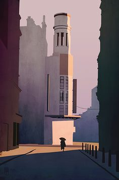 Finn Dean, Theatre, Illustration, print on photorag paper, Edition of The Art Collective Art And Illustration, Creative Illustration, Charles Sheeler, Bg Design, Retro Art, Pictures Images, Concept Art, Design Inspiration, Creative Inspiration