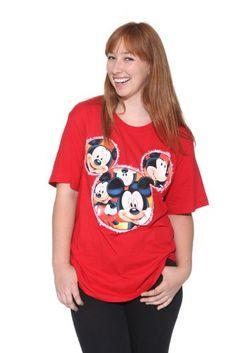 b36ffb815dc37 Amazon.com  Disney Mickey Mouse Red T-Shirt Glitter Plus Size  Clothing