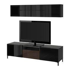 BESTÅ Combinaison rangt TV/vitrines IKEA