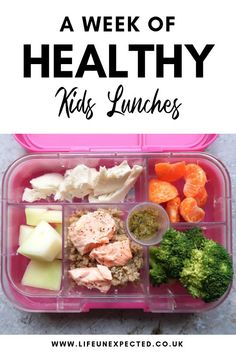 A week of healthy packed lunch boxes for kids. Paleo Lunch Box, Healthy Lunches For Kids, Kids Meals, Family Meals, Healthy Snacks, Healthy Eating, Healthy Recipes, Packed Lunch Boxes, Healthy Baby Food