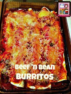 Kandy's Kitchen Kreations: Beef 'n Bean Burritos